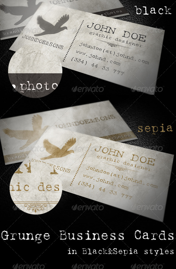 Grunge Business Cards - Grunge Business Cards