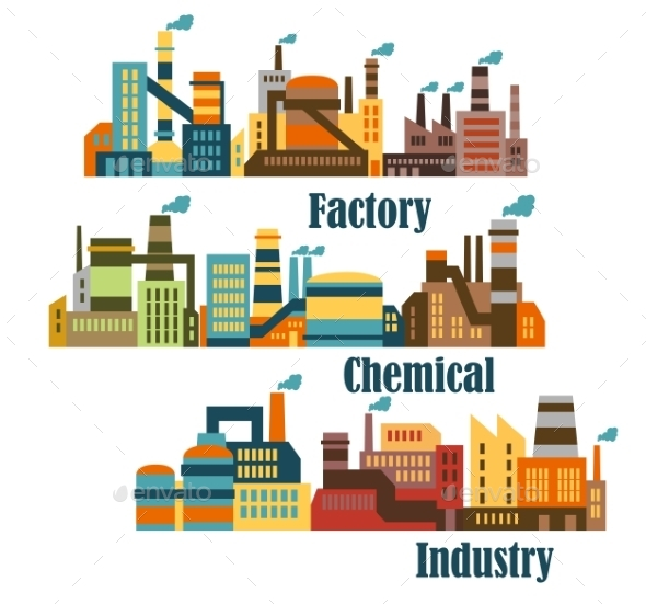 Chemical and Industrial Factories - Buildings Objects