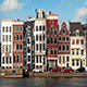 Car Passes Typical Dutch Houses By Canal - VideoHive Item for Sale
