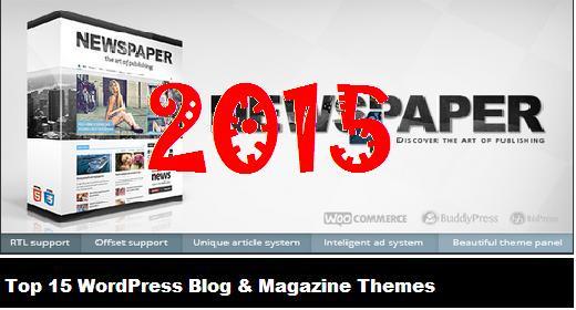 Top 15 WordPress Blog & Magazine Themes