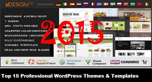 Top 15 Professional WordPress Themes & Templates