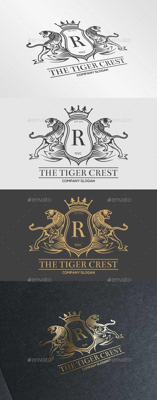 The Tiger Crest Logo - Crests Logo Templates