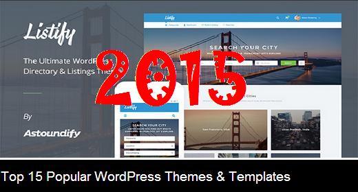 Top 15 Popular WordPress Themes & Templates