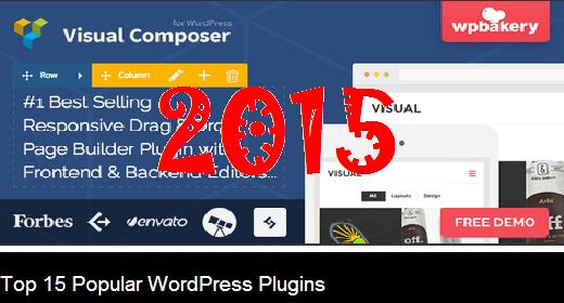 Top 15 Popular WordPress Plugins