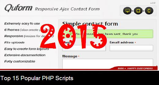 Top 15 Popular PHP Scripts