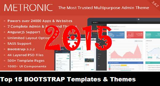 Top 15 BOOTSTRAP Templates & Themes