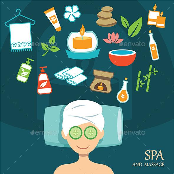 Spa Flat Design - Health/Medicine Conceptual