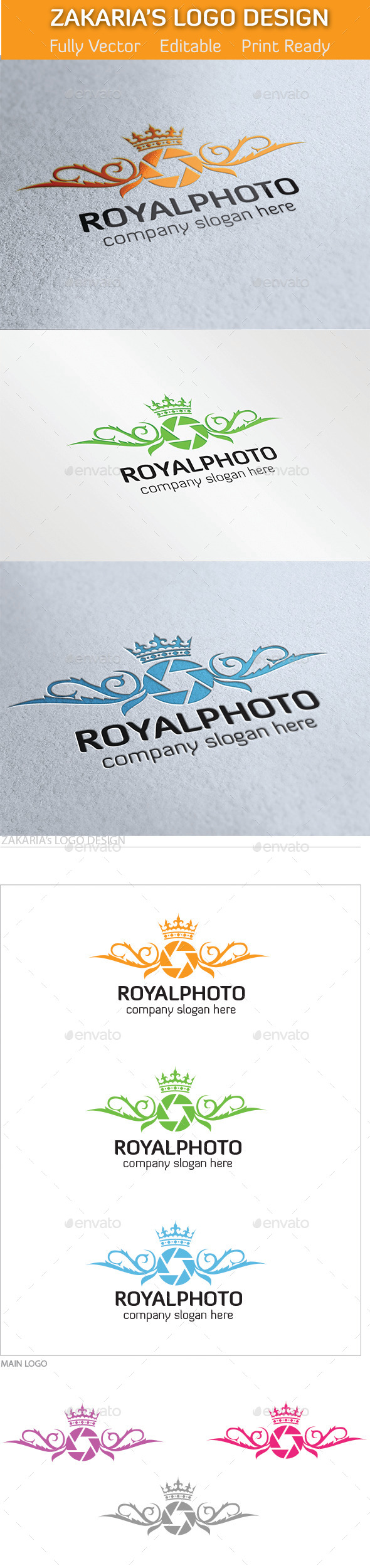 Royal Photography Studio - Symbols Logo Templates