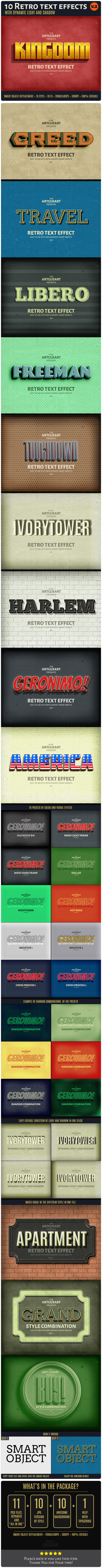 10 Retro Text Effect v.2 - Text Effects Actions