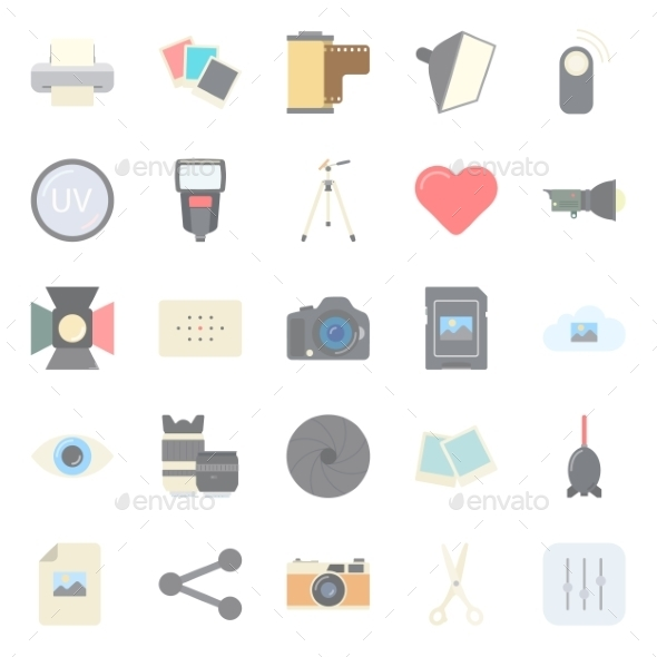 Photo Equipment Icons - Miscellaneous Conceptual