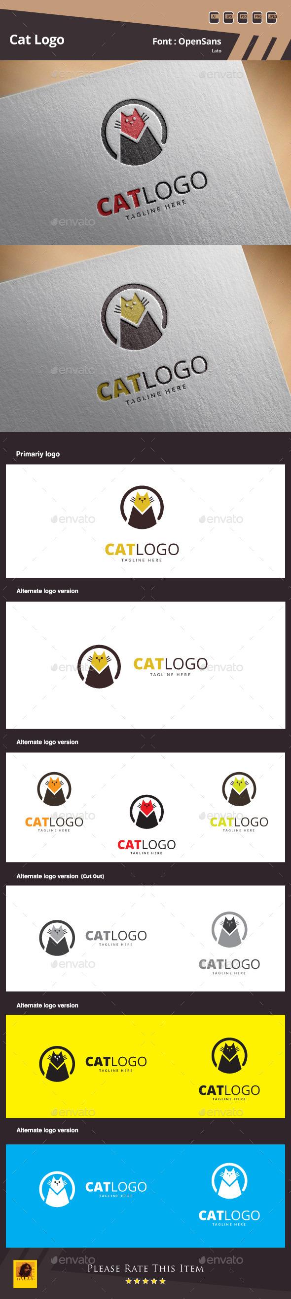 Cat Logo Template - Animals Logo Templates