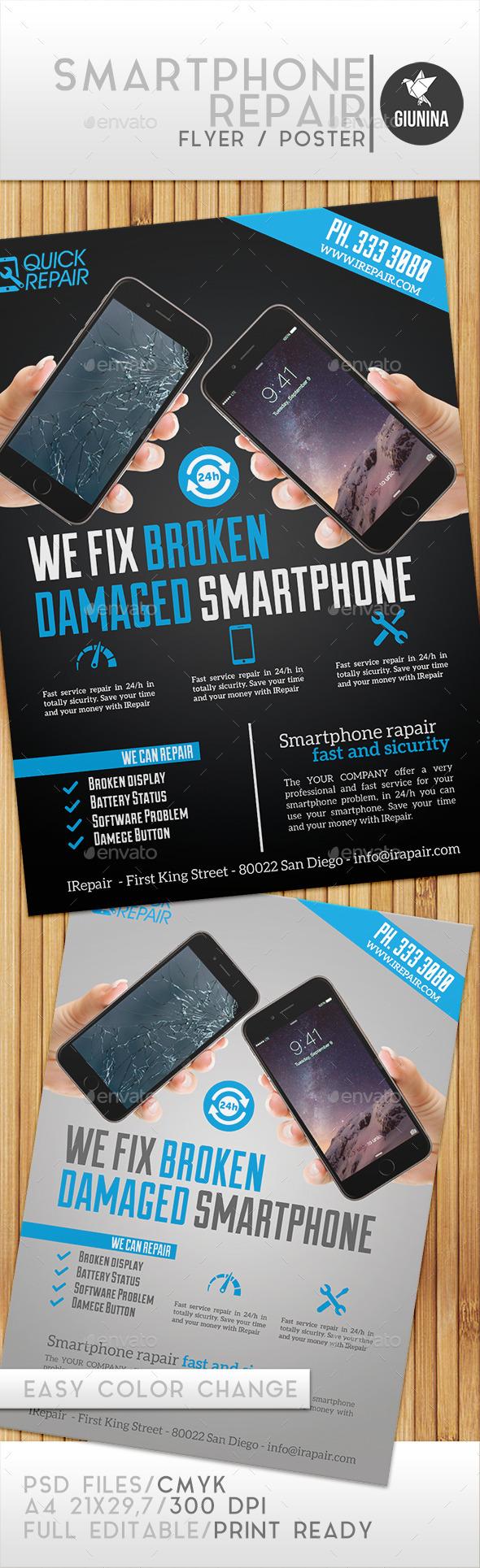 Smartphone Repair Flyer/Poster - Commerce Flyers