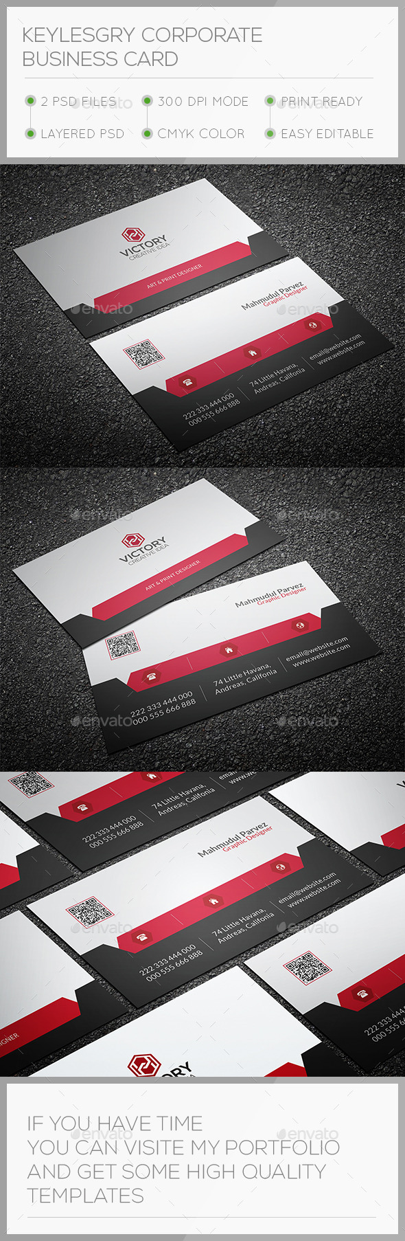 Keylesgry Corporate Business Card - Corporate Business Cards