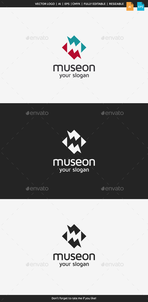 Museon - Letter M - Letters Logo Templates