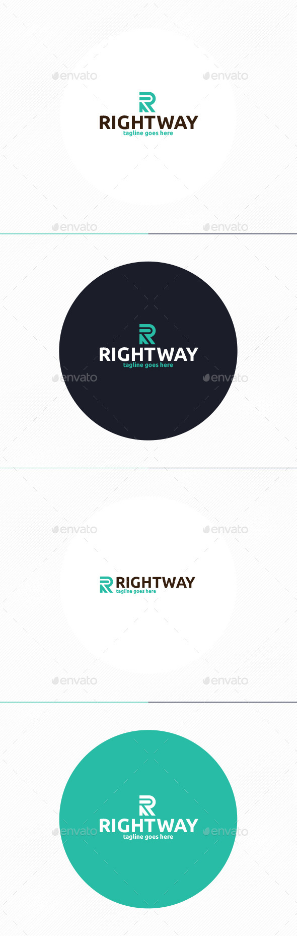 Right Way Logo • Letter R - Letters Logo Templates