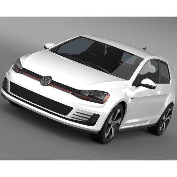 VW Golf GTI 3door 2015 - 3DOcean Item for Sale