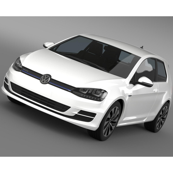 VW Golf TDI BlueMotion 3 door 2015 - 3DOcean Item for Sale