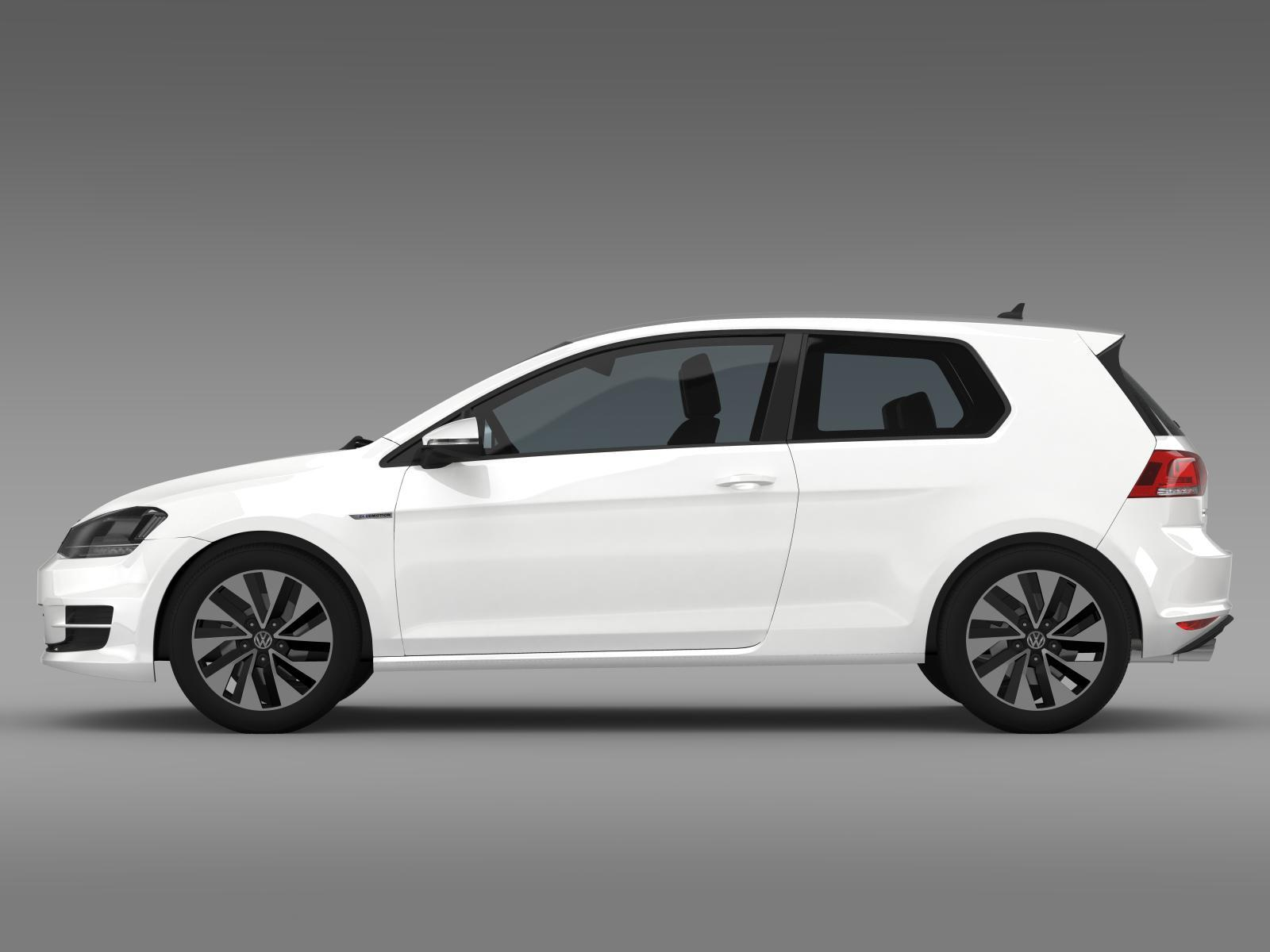 vw golf tdi bluemotion 3 door 2015 by creator 3d 3docean. Black Bedroom Furniture Sets. Home Design Ideas