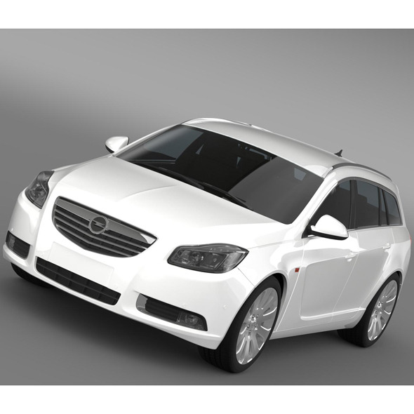 Opel Insignia Turbo 4x4 Sports Tourer 2013 - 3DOcean Item for Sale