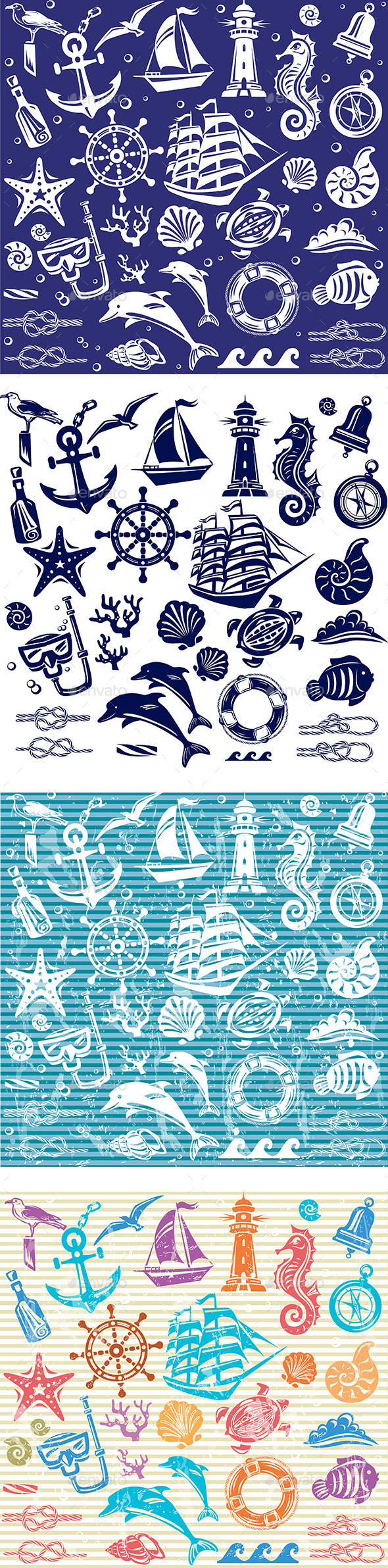 Nautical and Sea Set - Sports/Activity Conceptual