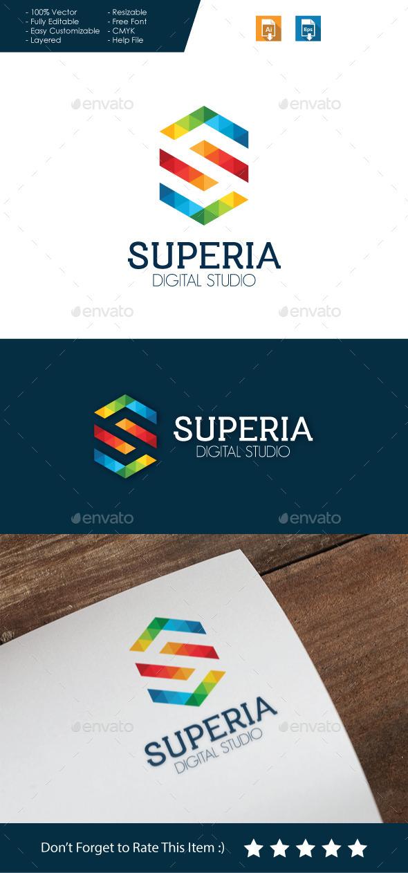 Superia - Letter S Logo  - Letters Logo Templates
