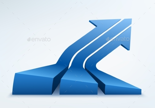 3D Arrow Illustration  - Concepts Business
