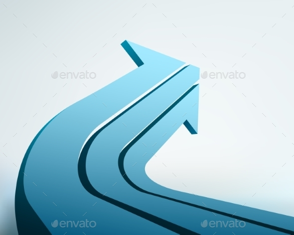 3D Arrow Illustration - Concepts Business