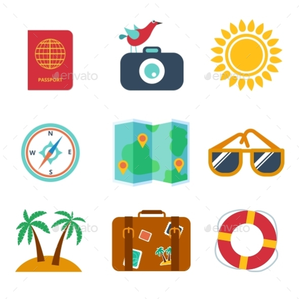 Icons of Travel - Travel Conceptual
