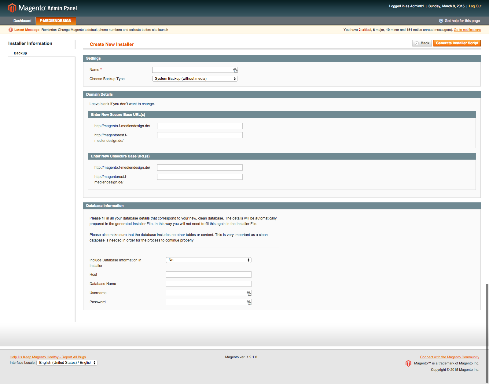 Magento Installer/Duplicator and Moving Tool