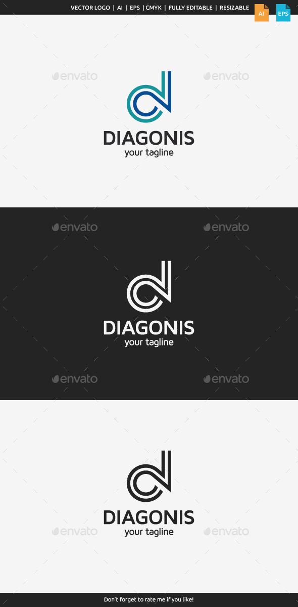 Diagonis - Letter D - Letters Logo Templates