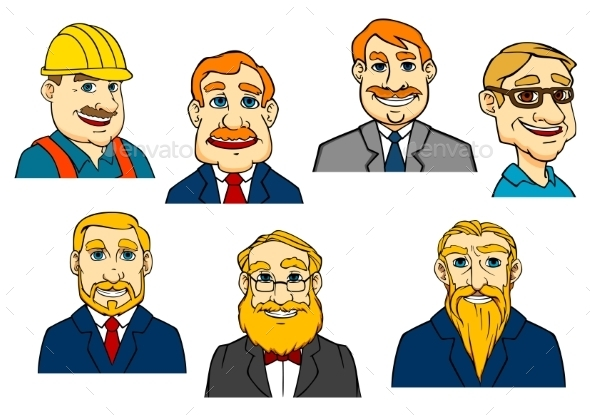 Different Cartoon Men - People Characters