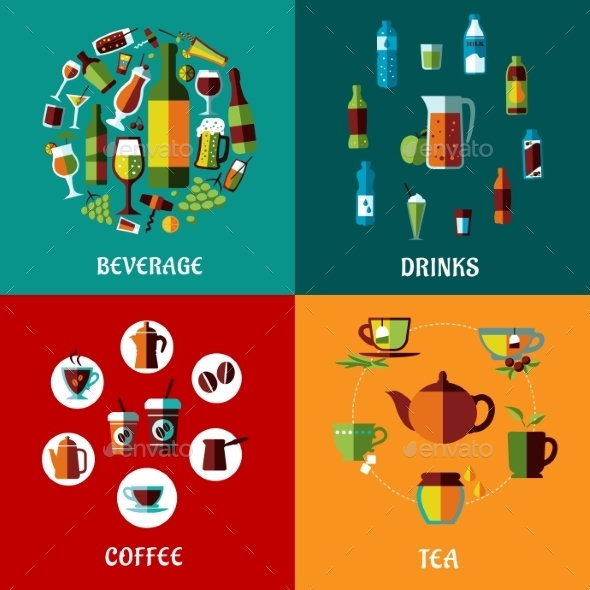 Drinks and Beverages Compositions - Food Objects