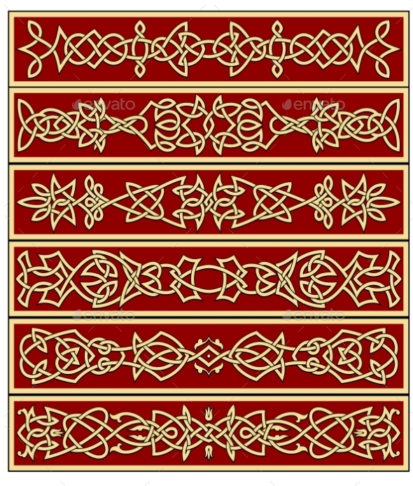 Borders and Frames in Celtic Style - Patterns Decorative