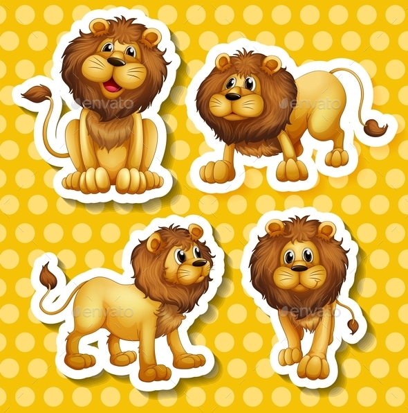 Lion Set - Animals Characters