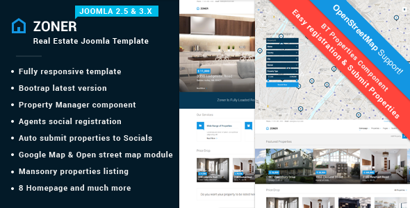 Zoner | Solution for Joomla Real Estate website