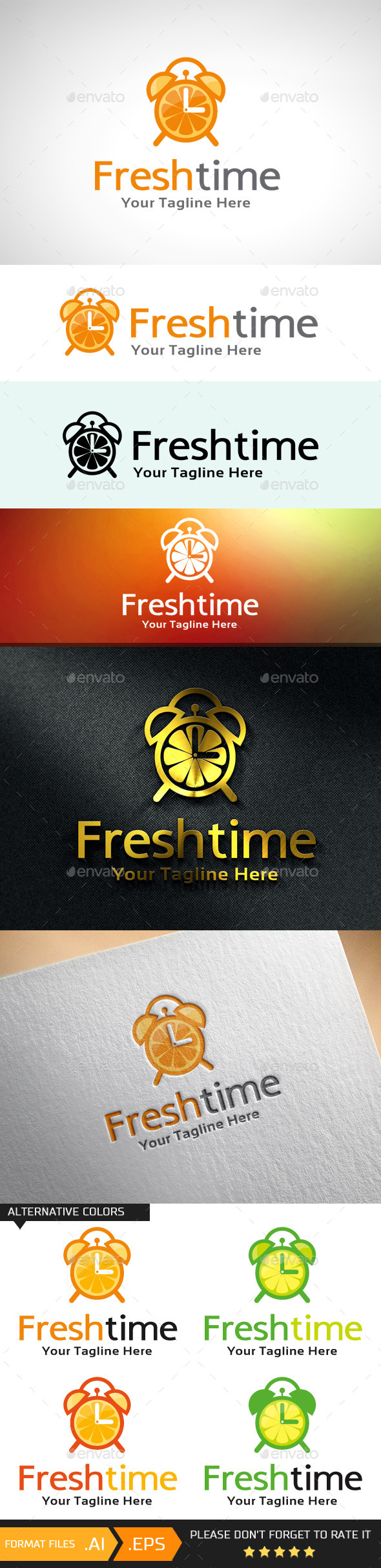 Fresh Time Logo Template - Objects Logo Templates
