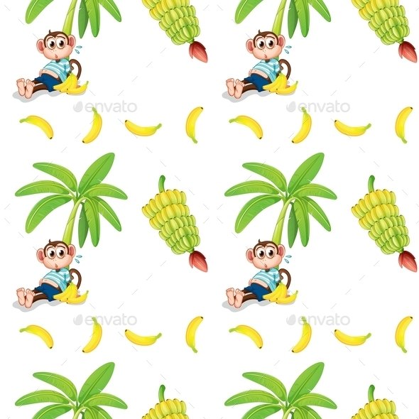 Monkeys and Bananas - Backgrounds Decorative
