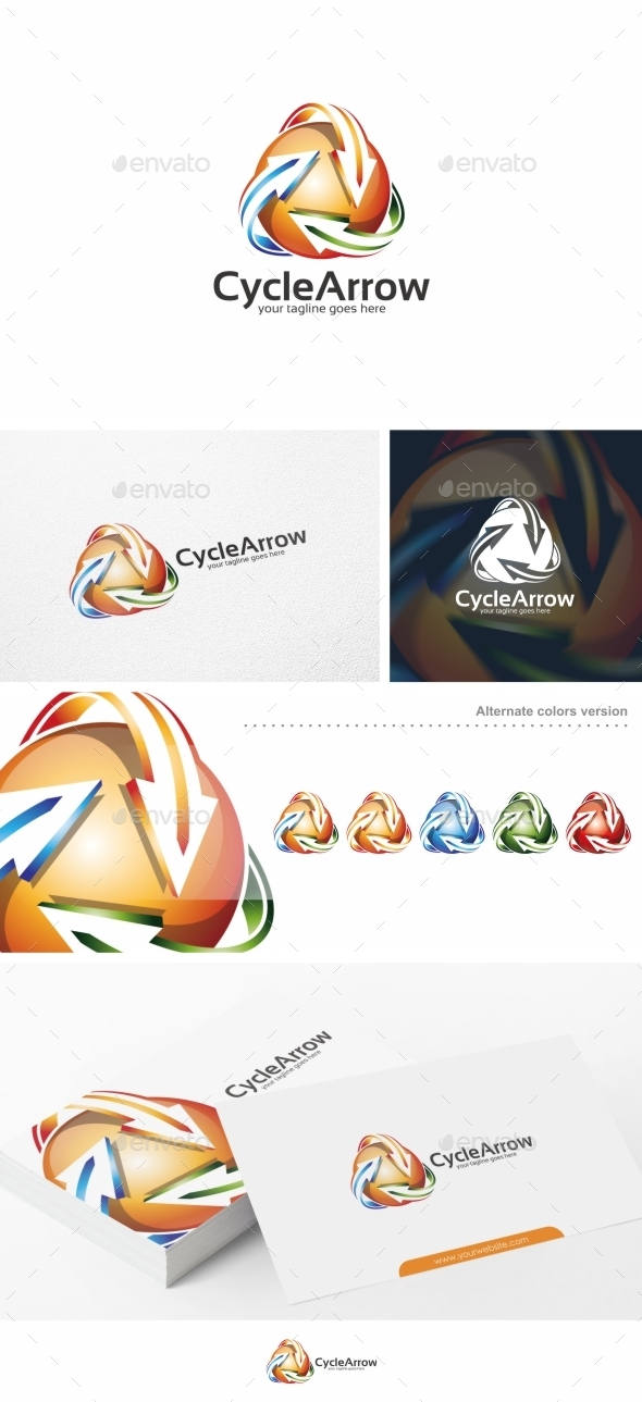 Cycle Arrow - Logo Template - Symbols Logo Templates