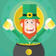 St Patricks Day Green Leprechaun - GraphicRiver Item for Sale