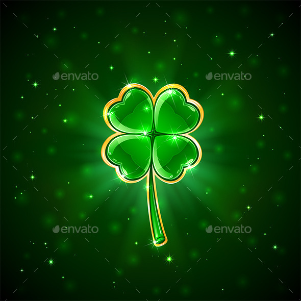 Green Shiny Clover - Miscellaneous Seasons/Holidays