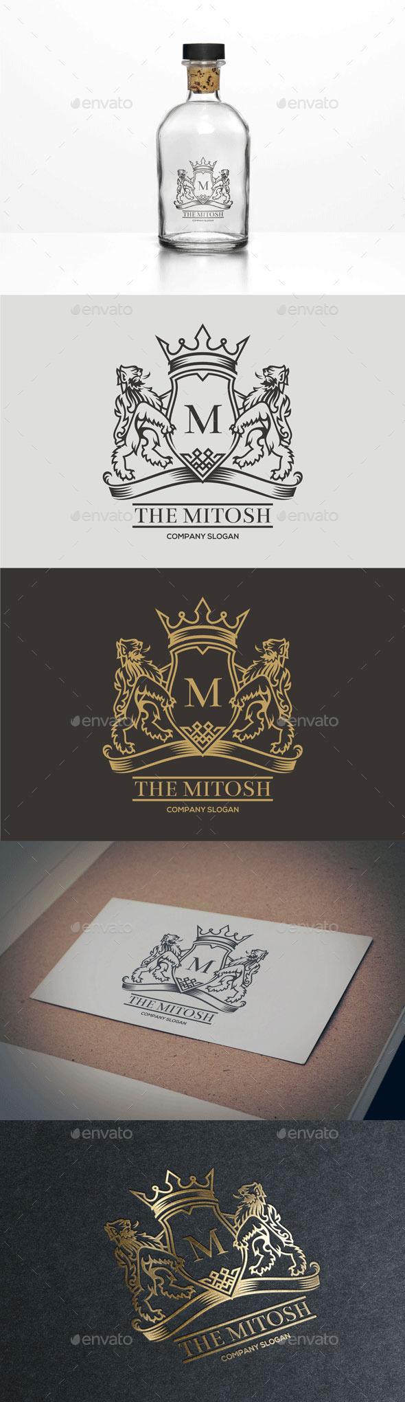 Lion Mythology Logo - Crests Logo Templates