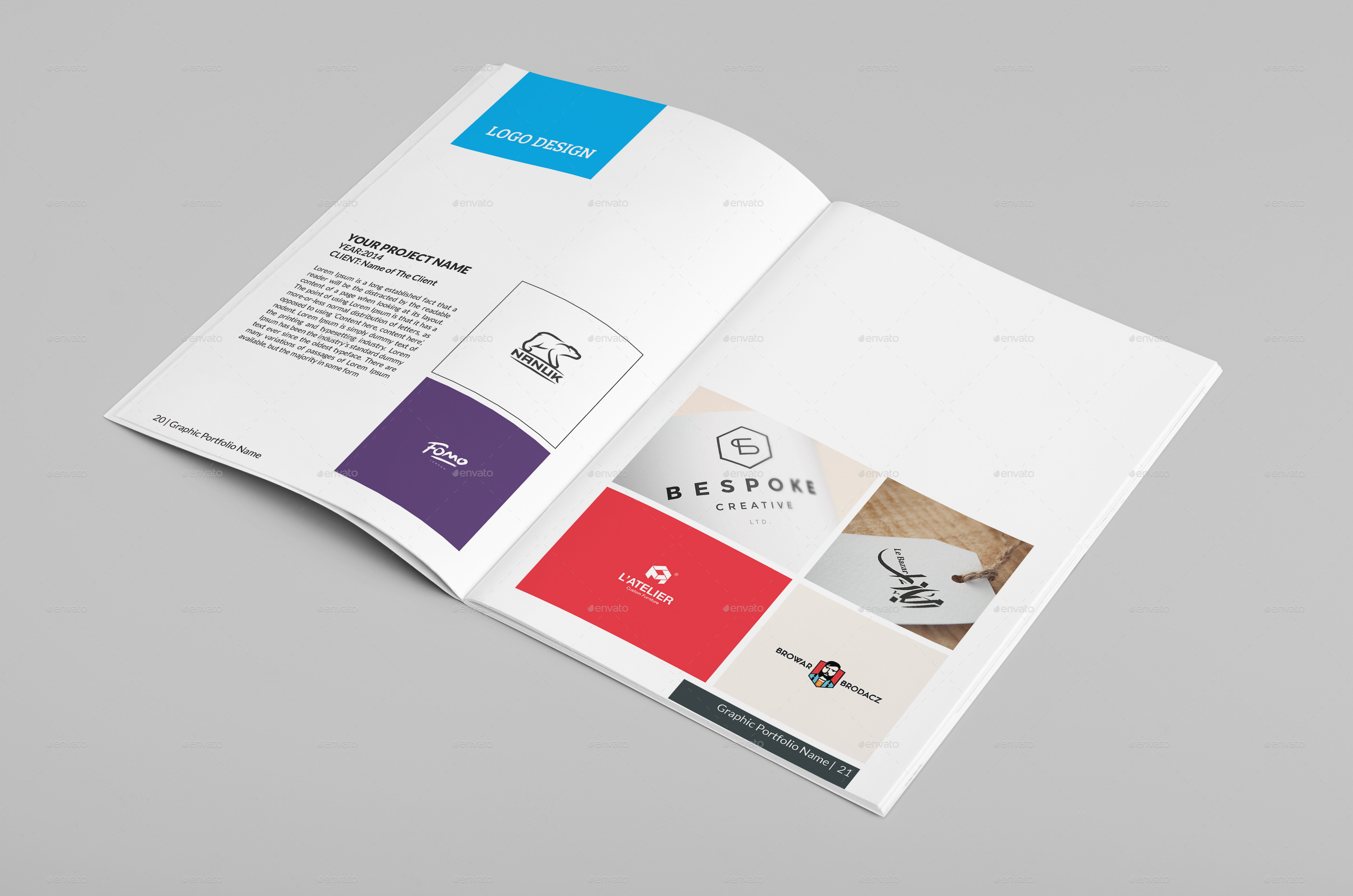 Multipurpose A Portfolio Brochure Template By Designerorg - Portfolio brochure template