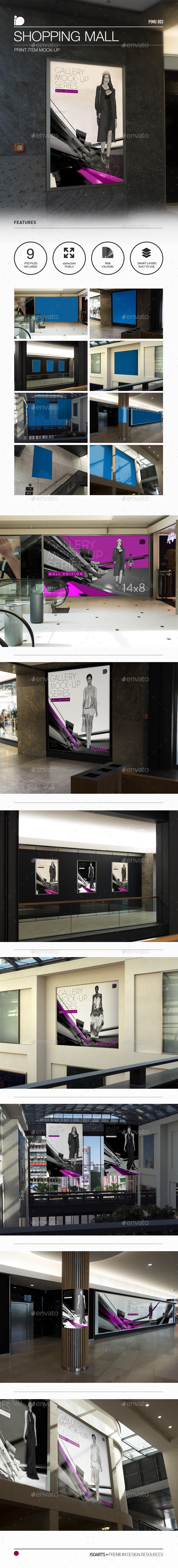 Mock-Up • Shopping Mall - Posters Print