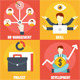 Set of Human Resources Management Icons - GraphicRiver Item for Sale