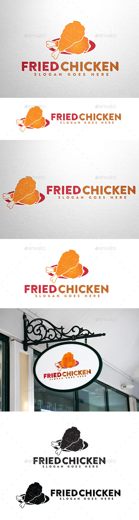 Fried Chicken Logo - Food Logo Templates