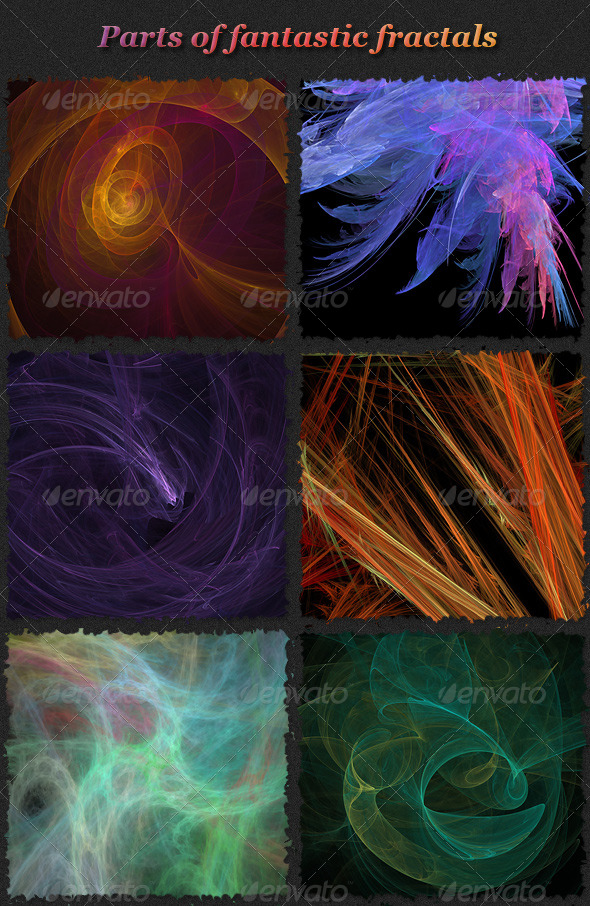Fantastic Fractals Set 2 - Backgrounds Graphics