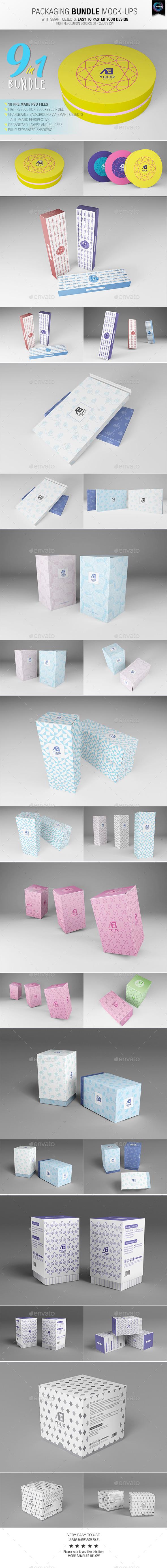 Packaging Bundle Mock-Ups - Packaging Product Mock-Ups