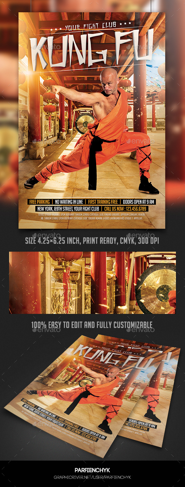 Kung Fu Fight Flyer Template - Sports Events