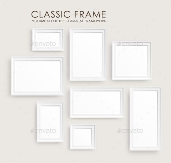 Picture Frames Template  - Decorative Vectors