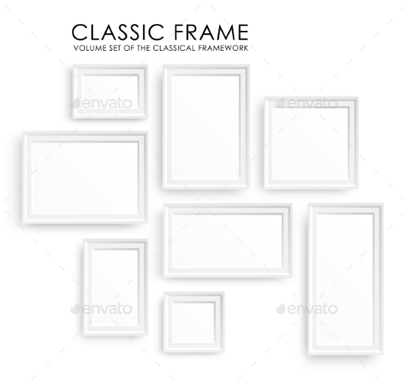 Picture Frames Template  - Decorative Vectors